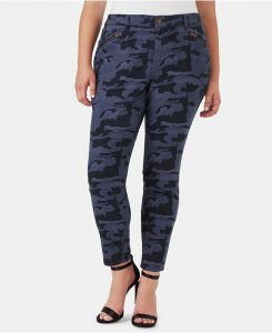 Plus Size Blue Camo Cargo Pants