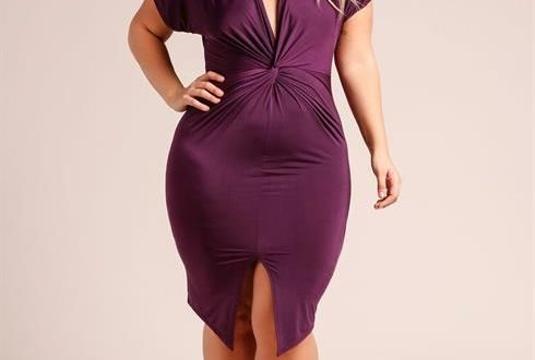Plus Size Plum Dress