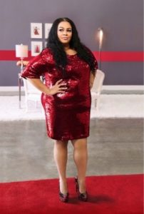 Plus Size Red Sequin Club Dresses
