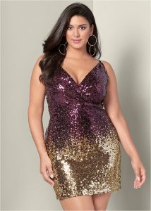 Plus Size Sequin Club Dress