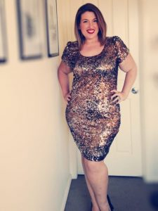 Plus Size Sequin Club Dresses with Sleeves