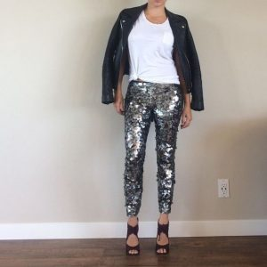 Plus Size Sequin Tights