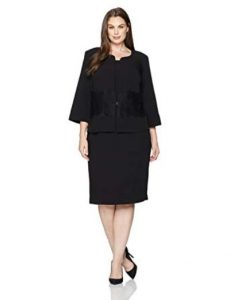 Plus Size Sheath Dress With Jacket