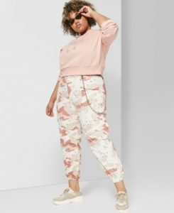 Plus Size White Camo Pant