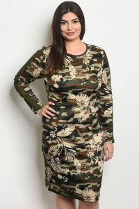 Plus Sized Camo Dress for Women
