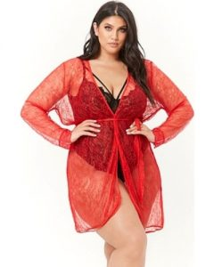 Red Lace Robe 5X