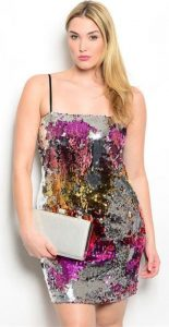 Sequin Maxi Club Dress Plus Size