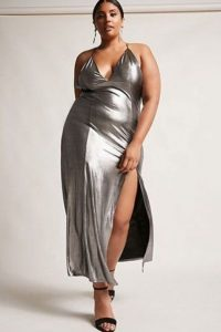 Silver Metallic Long Dress