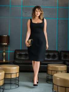 Sleeveless Black Sheath Dress Plus Size
