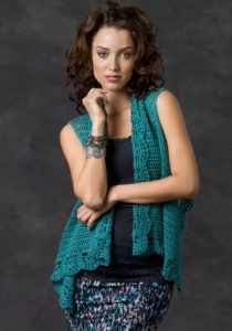 Sleeveless Crochet Vest Plus Size