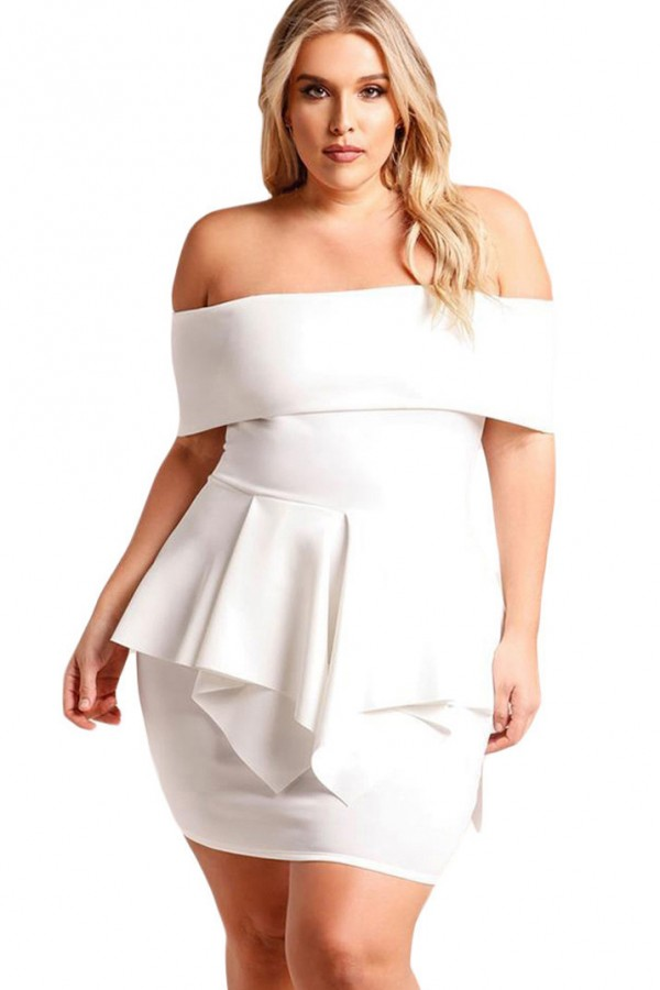 Plus Size White Club Dresses for Curvy Women | Attire Plus Size