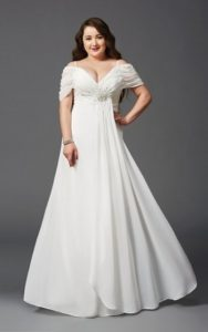 White Homecoming Dress In Plus Size