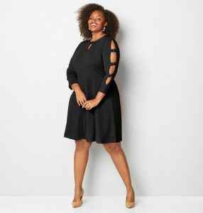 Women's Black Sheath Dress Plus Size