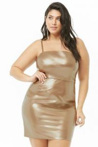 Women's Plus Size Metallic Dress