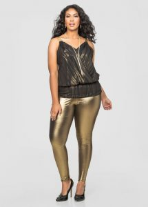Women's Plus Size Metallic Leggings