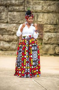 African Print Maxi Skirt For Plus Size