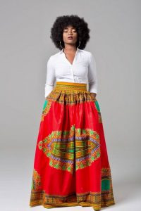 African Print Maxi Skirt Plus Size