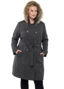 Belted Pea Coat With Hood 4x