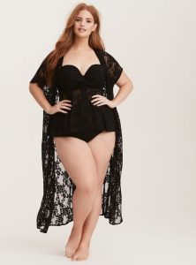 Black Kimono Swim Cover Up