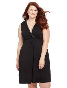 Black Plus Size Nursing Gown