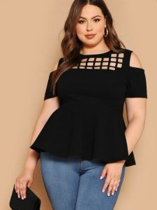 Black Plus Size Tops Short Sleeve