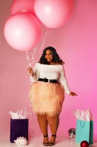 Feather Skirt Plus Size