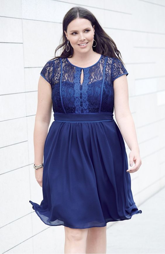 Fit And Flare Cocktail Dress Plus Size