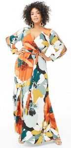 Floral Long Dress Plus Size