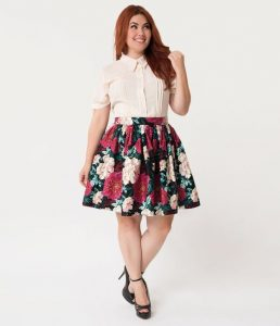 Floral Plus Size Skirts