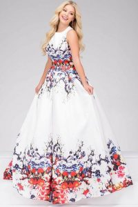 Floral Prom Dress Plus Size