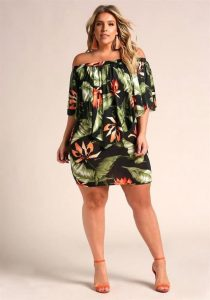 Hawaiian Print Dresses 4x