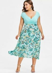Hawaiian Print Dresses Plus Sized