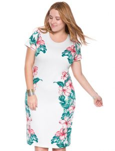 Hawaiian Printed Dress Plus Size