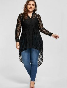 High Low Tunic Tops Plus Size