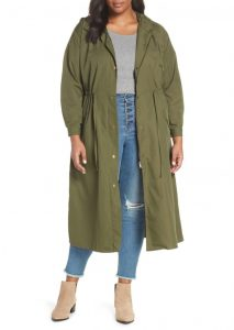 Hooded Long Rain Jackets Plus Size