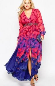 Long Hawaiian Print Dress Plus Size