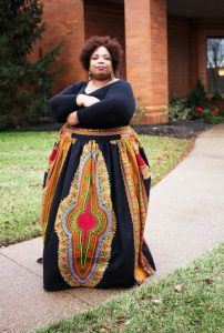 Plus Size African Print Maxi Skirt