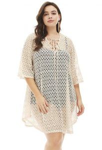 Plus Size Crochet Beach Cover Up