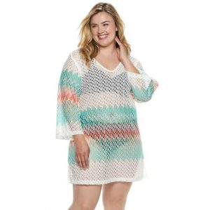 Plus Size Crochet Cover Up