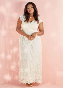 Plus Size Crochet Wedding Dress