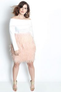 Plus Size Feather Skirt