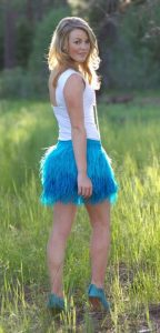 Plus Size Feather Skirt Outfit
