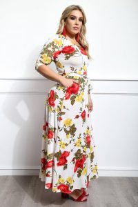 Plus Size Floral Long Dresses
