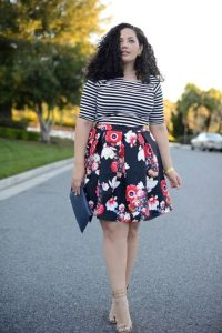 Plus Size Floral Skirts