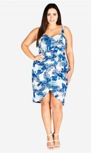 Plus Size Hawaiian Print Dresses