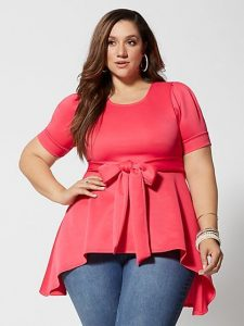 Plus Size High Low Tops
