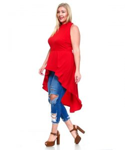 Plus Size High Low Tops For Women