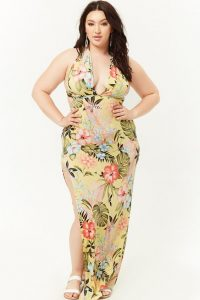 Plus Size Long Floral Dresses