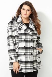 Plus Size Long Pea Coats With Hoods
