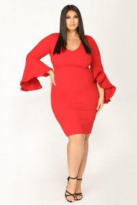 Plus Size Night Out Midi Dresses